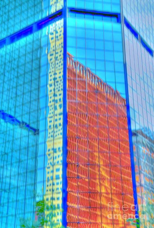 Building Art Print featuring the photograph Glass Reflections by Kathleen Struckle