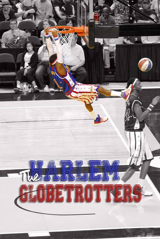 Harlem Print featuring the digital art Globetrotters Super Slam by Robert Saunders Jr