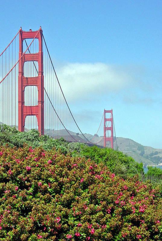 Golden Gate Bridge Art Print featuring the photograph Golden Gate by Suzanne Gaff