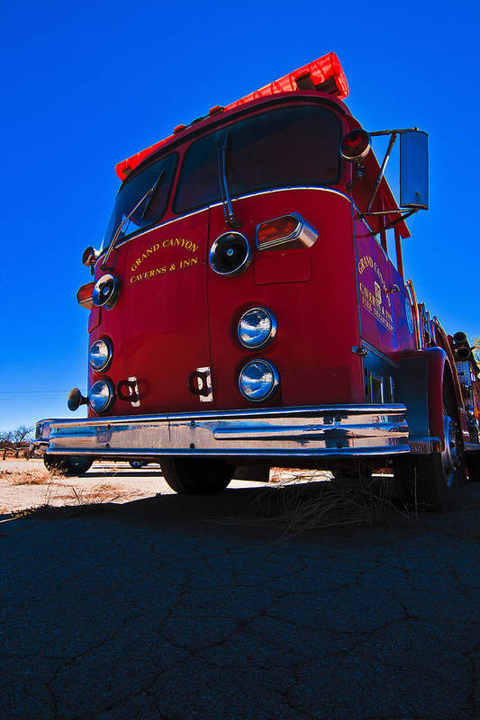 Grand Canyon Caverns Art Print featuring the photograph Good Ole Engine 17 by Kenan Sipilovic