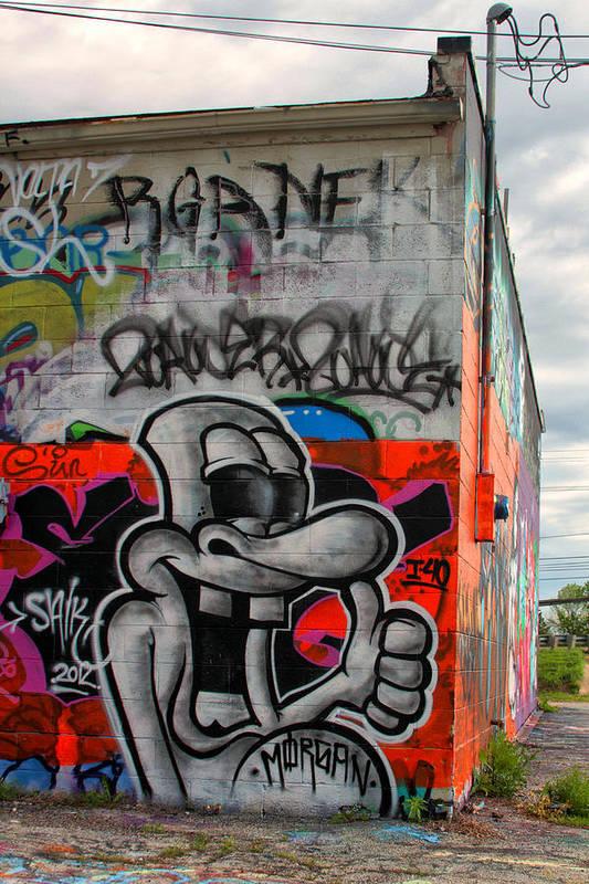 Graffiti Art Print featuring the photograph Graffiti 16 by Tera Bunney