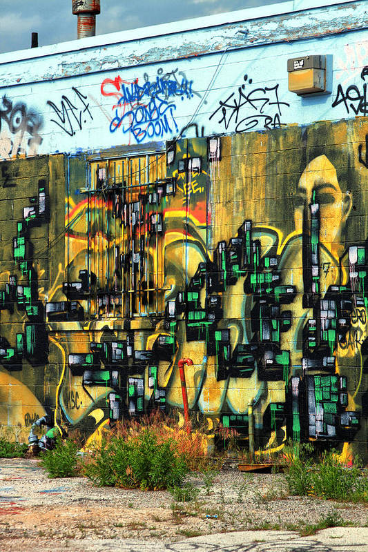 Graffiti Art Print featuring the photograph Graffiti 24 by Tera Bunney