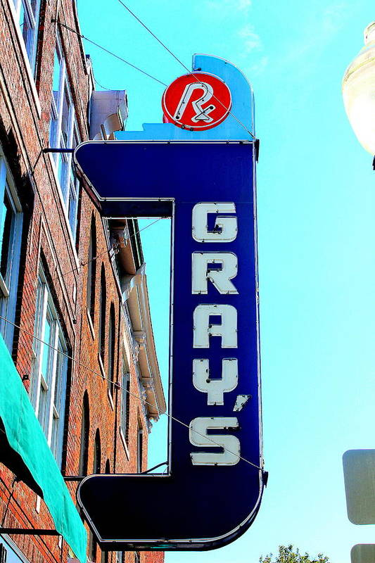 Pharmacies Art Print featuring the photograph Gray's Rx by Anthony Jones