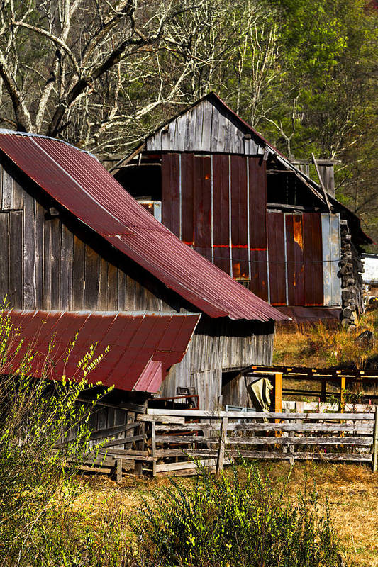 American Art Print featuring the photograph Great Grandpa's Place by Debra and Dave Vanderlaan