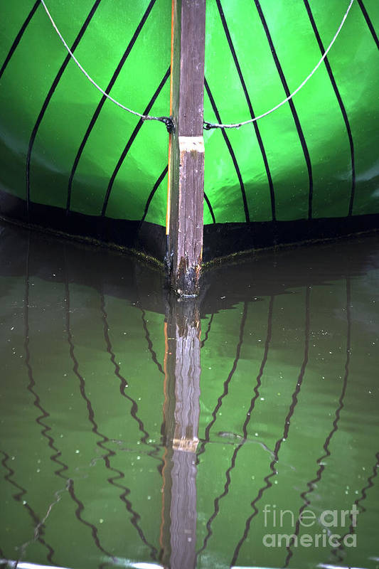 Heiko Print featuring the photograph Green Reflection by Heiko Koehrer-Wagner