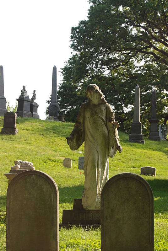 Statue Art Print featuring the photograph Greenwood Cemetery by Philip Ralley