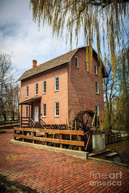 1800's Art Print featuring the photograph Grist Mill In Deep River County Park by Paul Velgos