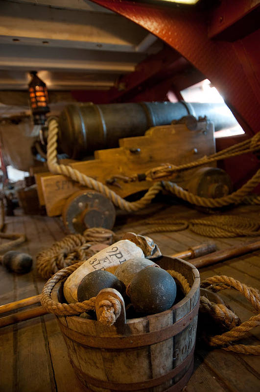 Nautical Art Print featuring the photograph Gunnery Port by Clifford Beck