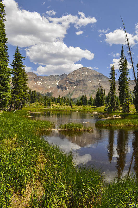Colorado Art Print featuring the photograph Hesperus Mountain Reflection by Aaron Spong