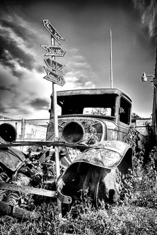 Classic Car Art Print featuring the photograph Hit The Road by Tera Bunney