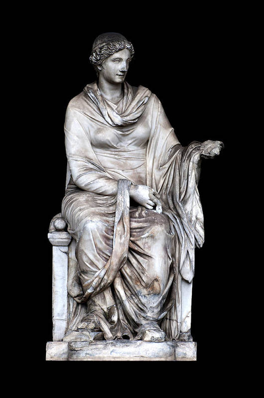 Black Background Art Print featuring the photograph Hygieia by Fabrizio Troiani