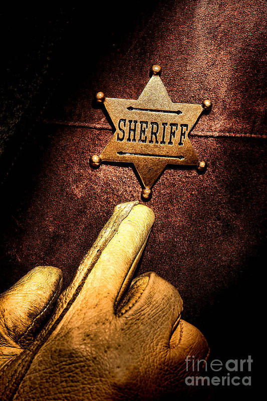 Sheriff Art Print featuring the photograph I Am The Law by Olivier Le Queinec