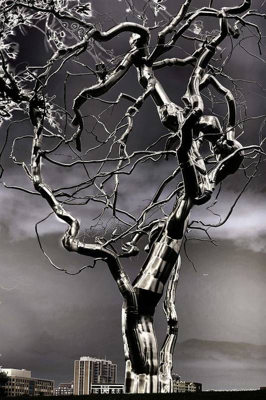 Fermet Art Print featuring the sculpture Ice Veins In The Sky by Joenne Hartley