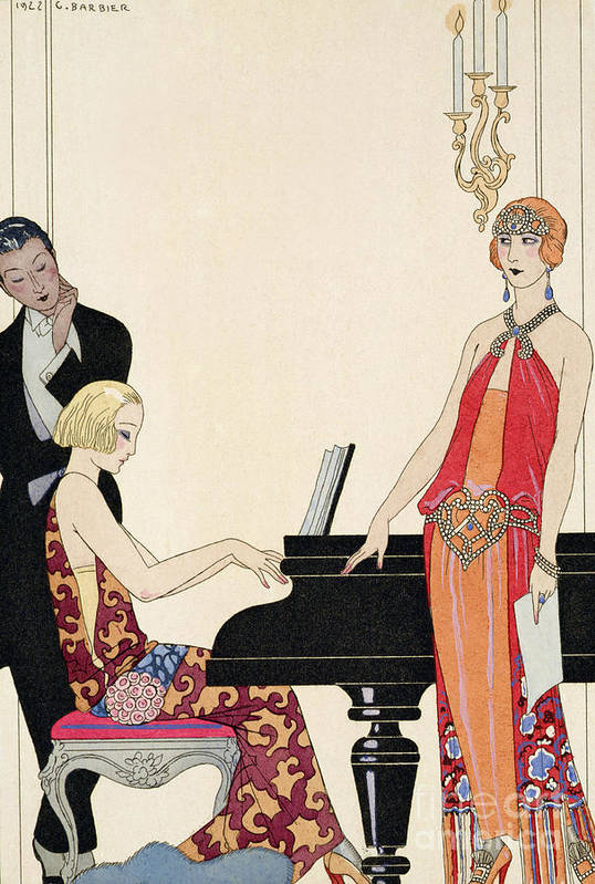 Piano Art Print featuring the painting Incantation by Georges Barbier