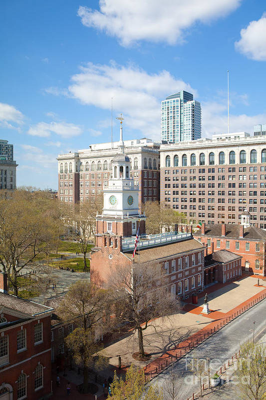 Philadelphia Art Print featuring the photograph Independence Hall Philadelphia by Kay Pickens
