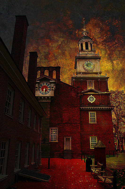Philadelphia Art Print featuring the photograph Independence Hall Philadelphia Let Freedom Ring by Jeff Burgess