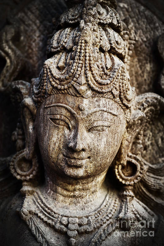 Granite Art Print featuring the photograph Indian Goddess by Tim Gainey