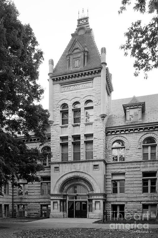 American Art Print featuring the photograph Indiana University Kirkwood Hall by University Icons