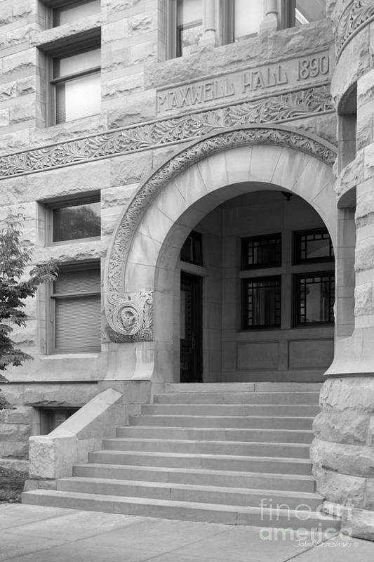 American Art Print featuring the photograph Indiana University Maxwell Hall Entrance by University Icons