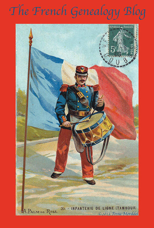 France Art Print featuring the photograph Infantry Of The Line Drummer With Fgb Border by A Morddel