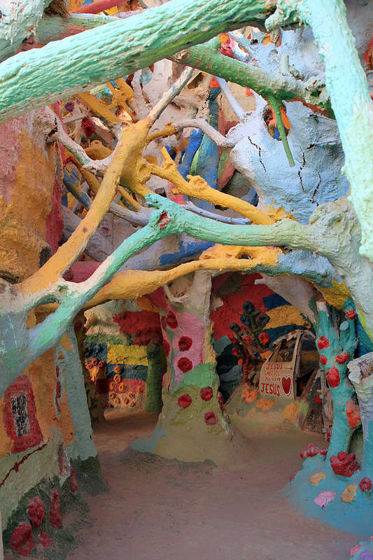 Salvation Mountain Art Print featuring the photograph It's A Magical World by Laurie Search