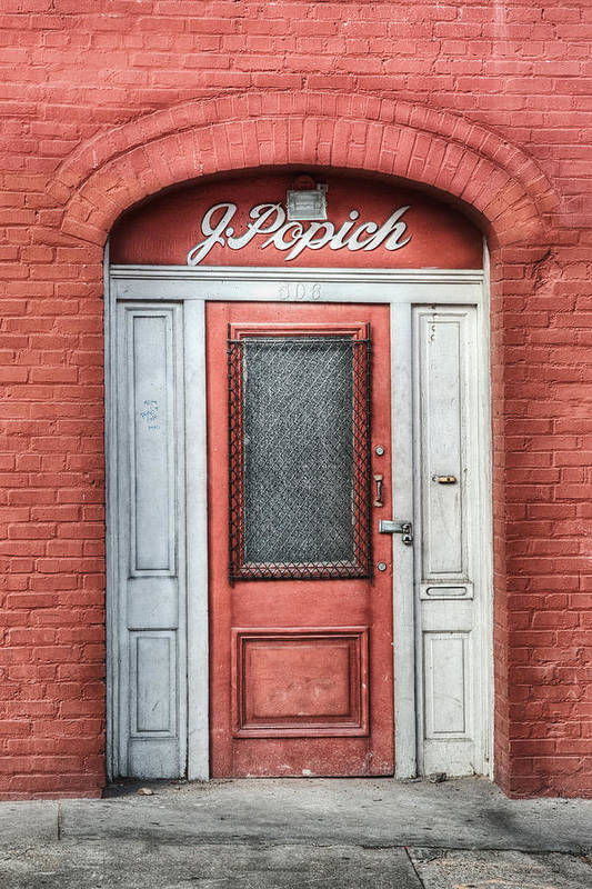 Door Art Print featuring the photograph J. Popich by Brenda Bryant