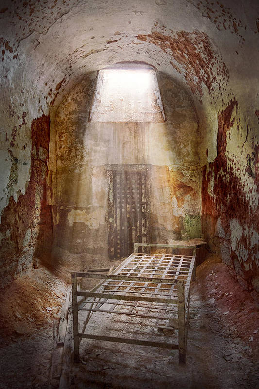 Jail Print featuring the photograph Jail - Eastern State Penitentiary - 50 Years To Life by Mike Savad