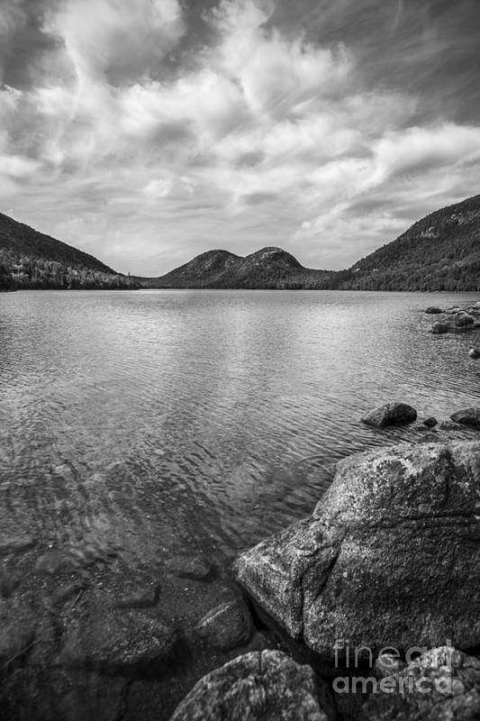 Acadia Print featuring the photograph Jordan Pond Acadia National Park Maine. by Diane Diederich