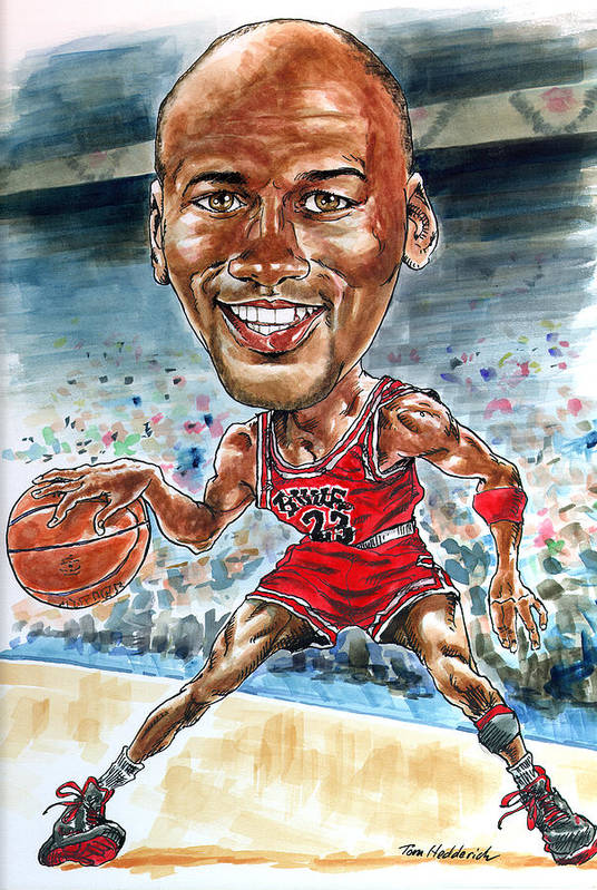 Jordan Art Print featuring the painting Jordan by Tom Hedderich