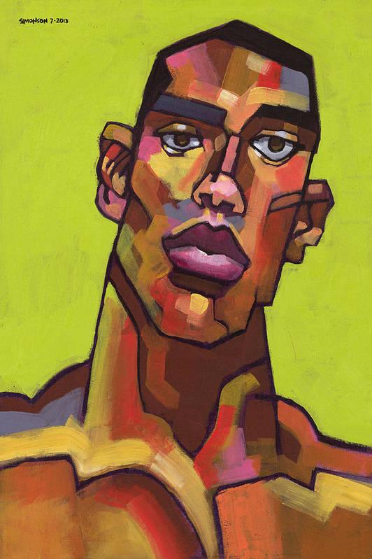 Portrait Art Print featuring the painting Killer Joe by Douglas Simonson