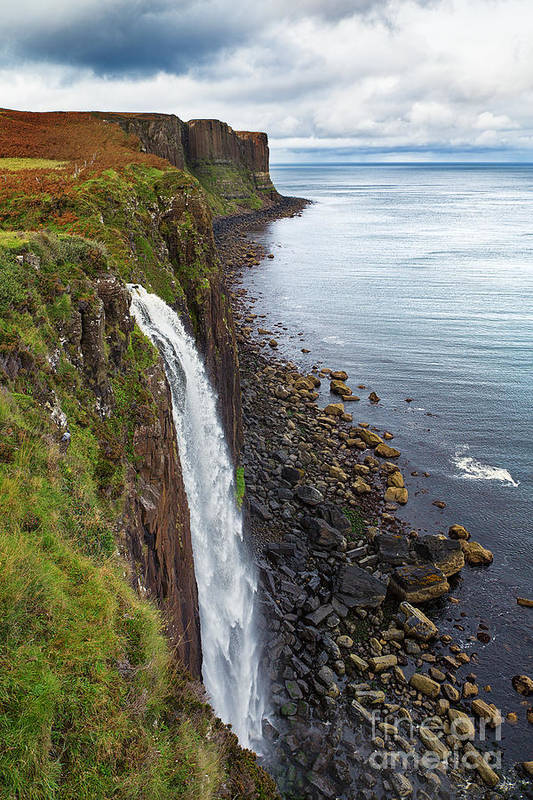 Scotland Print featuring the photograph Kilt Rock Waterfall by Jane Rix