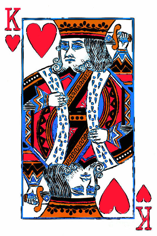 Card Art Print featuring the photograph King Of Hearts 20140301 by Wingsdomain Art and Photography