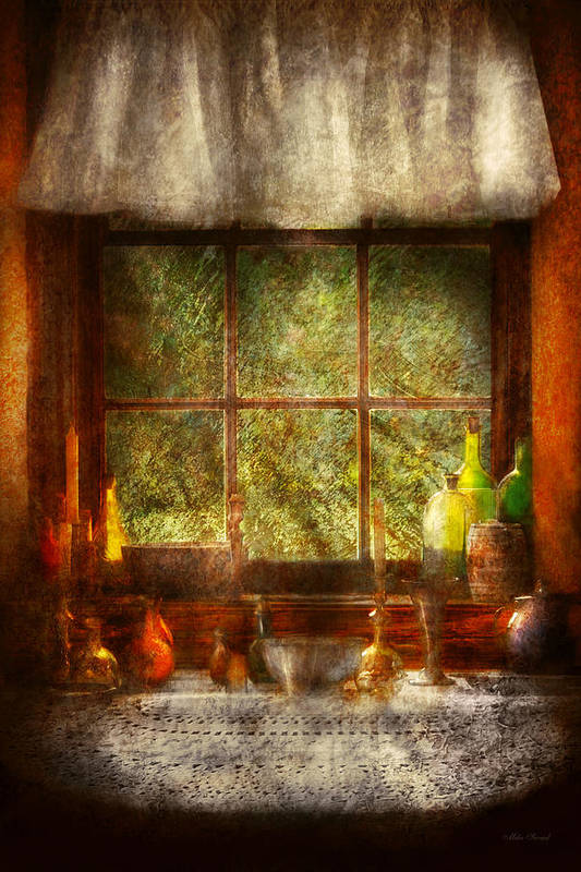 Chef Art Print featuring the photograph Kitchen - Table Setting by Mike Savad