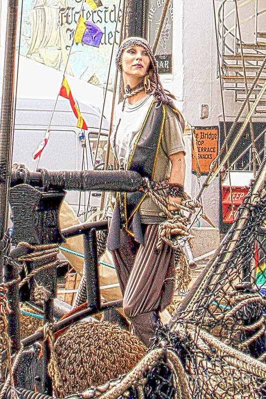 Lady Pirate Print featuring the photograph Lady Pirate Of Penzance by Terri Waters