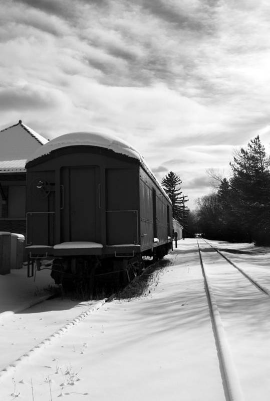 Railcar Print featuring the photograph Last Stop by Peter Chilelli