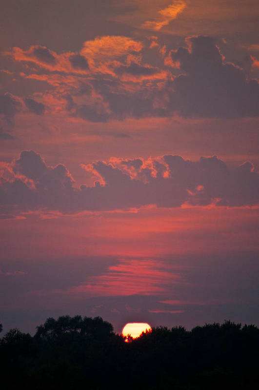 Sunset Art Print featuring the photograph Late Summer Sunset by Deana Wagner