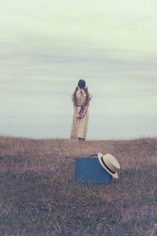 Girl Art Print featuring the photograph Leaving The Past Behind Me by Joana Kruse