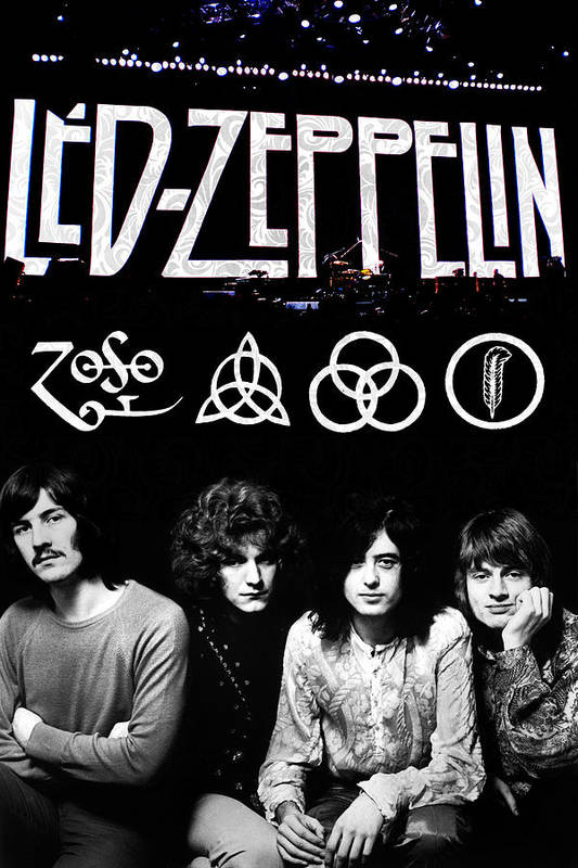 Led Print featuring the digital art Led Zeppelin by FHT Designs