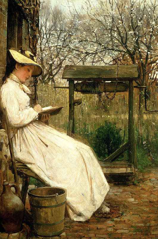 Read Art Print featuring the painting Leisure Hours by John Robertson Reid
