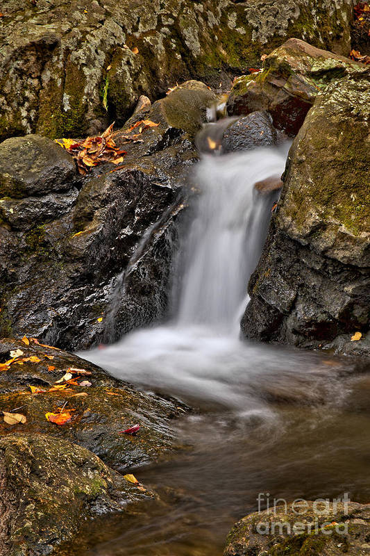 Fall Art Print featuring the photograph Lepetit Waterfall by Susan Candelario