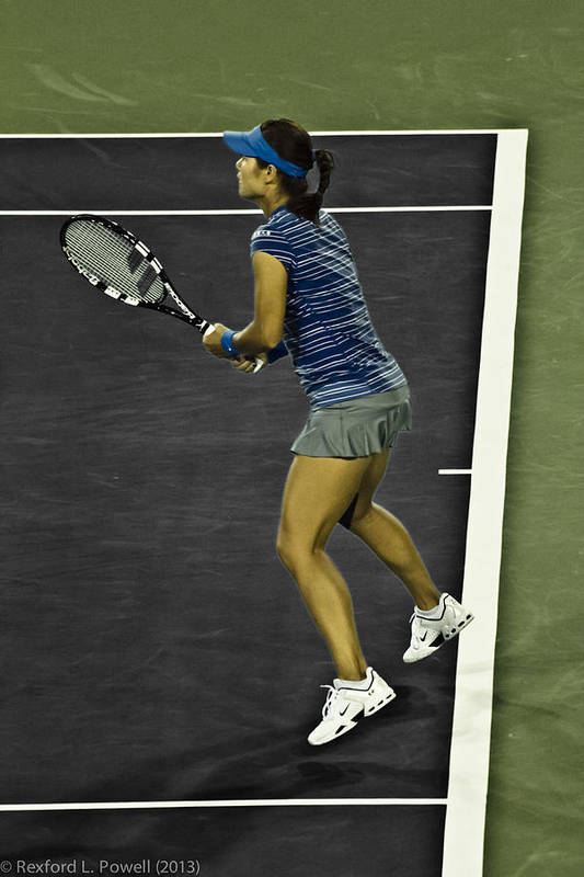 Li Na Art Print featuring the photograph Li Na by Rexford L Powell