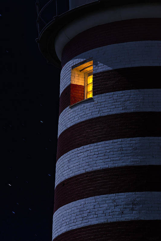 Lighthouse Art Print featuring the photograph Light From Within by Marty Saccone