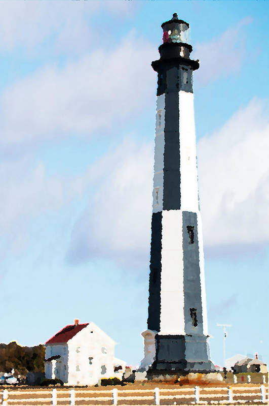 Lighthouse Art Print featuring the photograph Lighthouse Living - New Cape Henry Lighthouse by Gregory Ballos