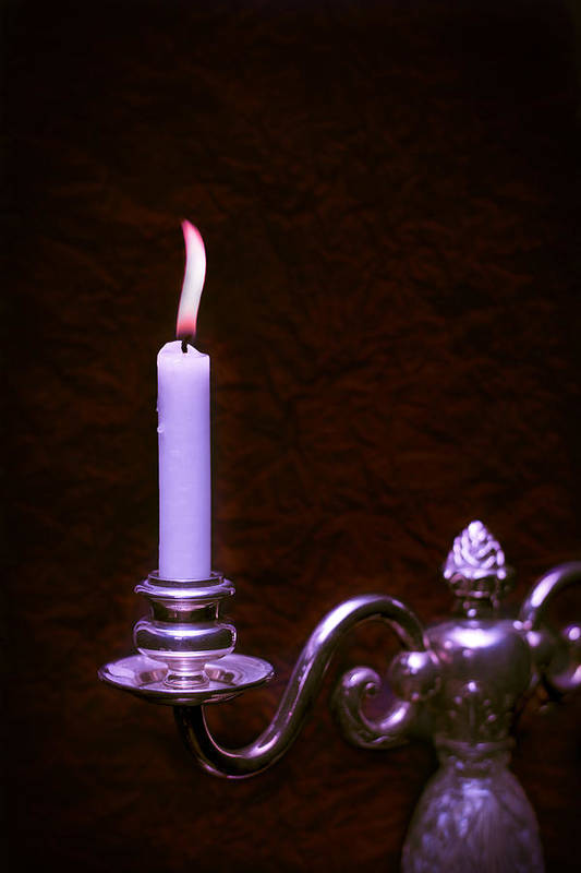 Lit Print featuring the photograph Lit Candle by Amanda Elwell