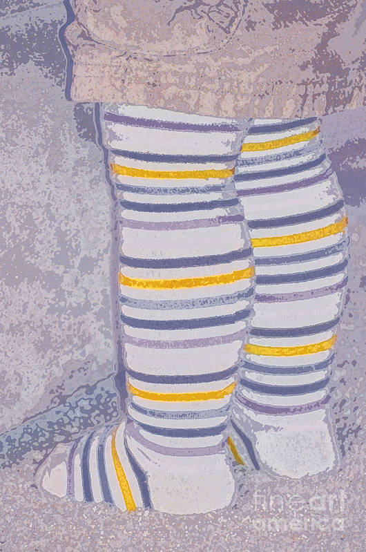 Little Print featuring the photograph Little Feet-yellow by Molly McPherson