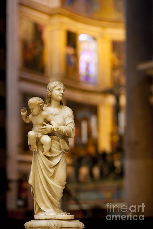 Mother Mary Art Print featuring the photograph Little Statue by Brian Jannsen
