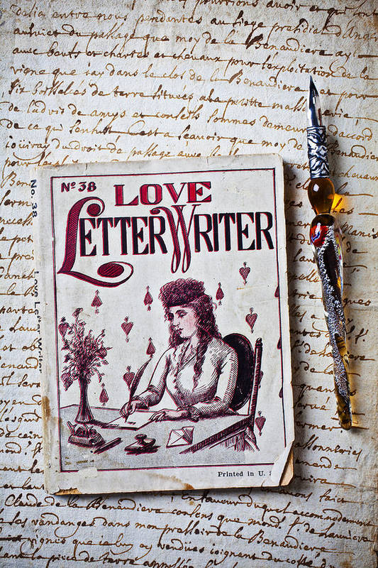 Love Art Print featuring the photograph Love Letter Writer Book by Garry Gay