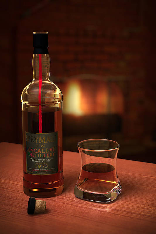 3d Print featuring the photograph Macallan 1973 by Adam Romanowicz