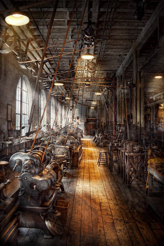 Machinists Art Print featuring the photograph Machinist - Welcome To The Workshop by Mike Savad