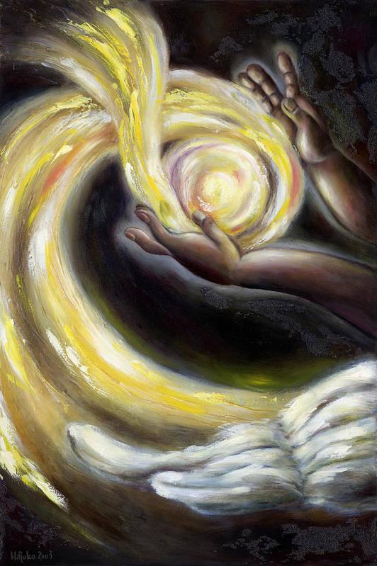 Angel Art Print featuring the painting Magic by Hiroko Sakai